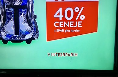 Interspar je Intesrparih napacno poimeovanje v TV oglasu