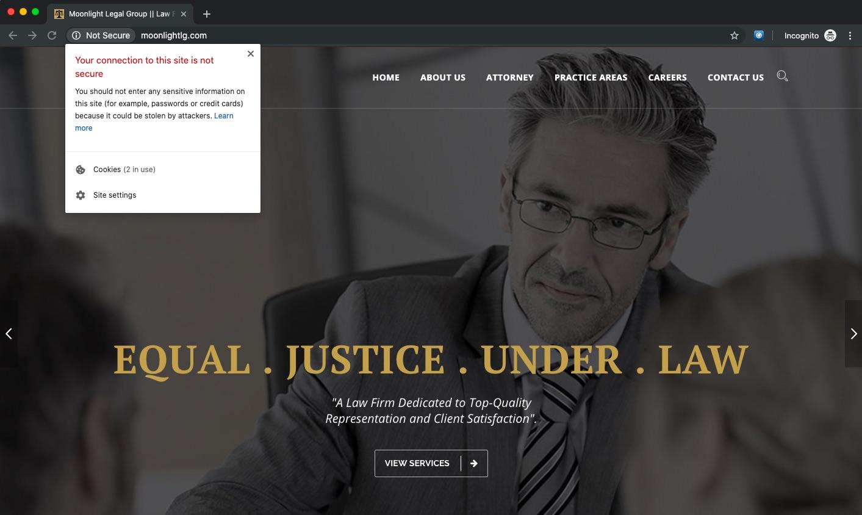 Sofisticiran nateg elektronska posta spletna stran Moonlight Legal Group3