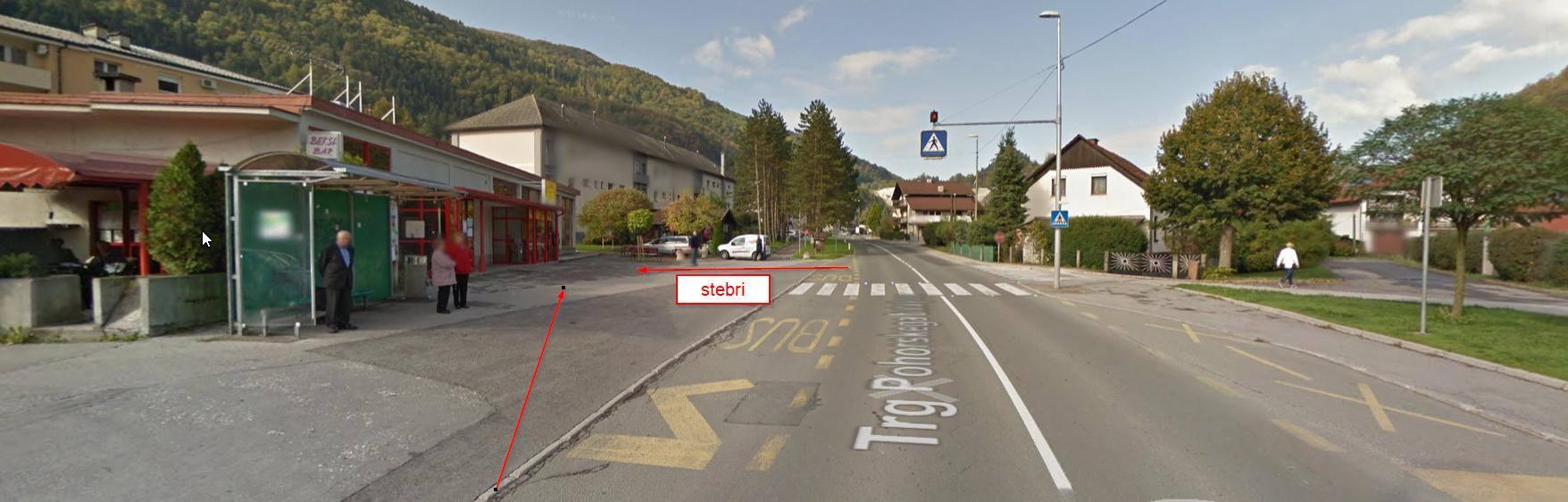 Zavijanje v Kisovcu mimo avtobusne postaje