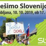 Protest Resimo Slovenijo 10.10.2019