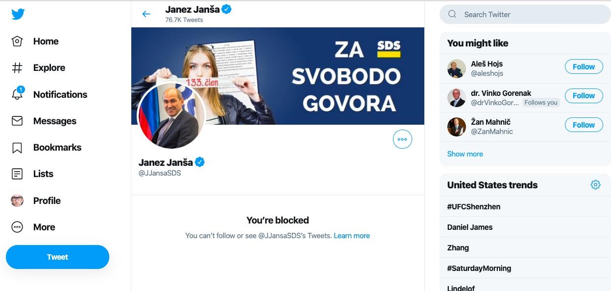Marjan Sarec na Twitterju blokiral Janeza Janso kakšni so bili odzivi Janezov sledilcev1