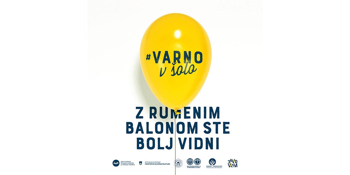 Rumeni biorazgradljivi baloni danes pripomogli k boljsi vidnosti otrok