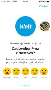 Wolt moja izkušnja z naročanjem hrane preko aplikacije Wolt s kodo S9ZMN dobite 5 evrov6