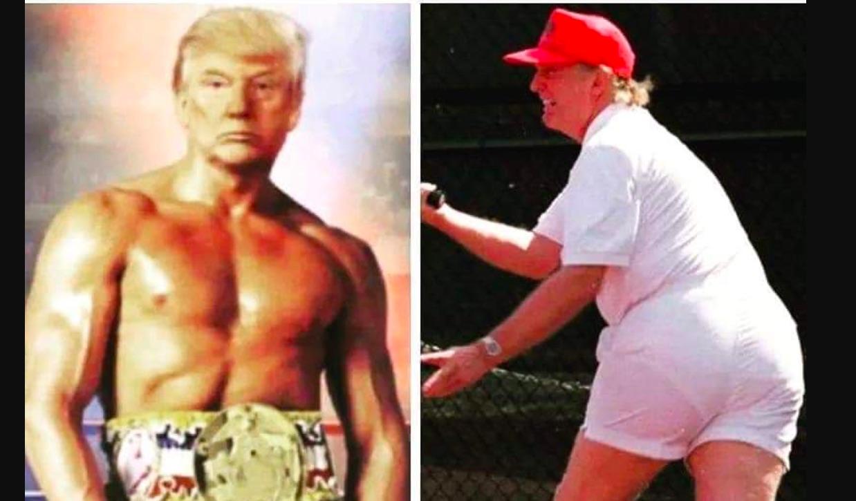 Donald Trump kot Sylvester Stallone na Twitterju