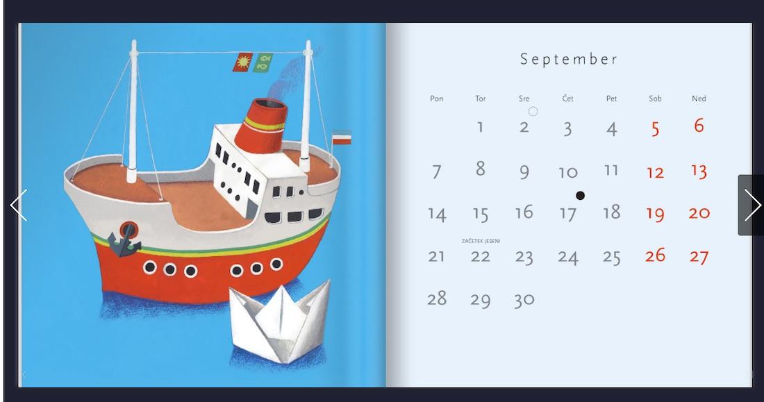 Koga je zmotila zvezda na ilustraciji Jelke Reichman in jo je odstranil v koledarju Mladinska knjiga