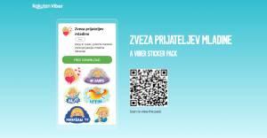 Zveza prijateljev mladine Slovenije predstavlja Viber nalepke stickerje