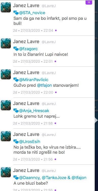 Janez Lavre direktor bolnisnice Slovenj Gradec in njegovo zaljenje na Twitterju1