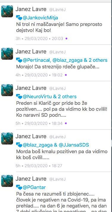 Janez Lavre direktor bolnisnice Slovenj Gradec in njegovo zaljenje na Twitterju2