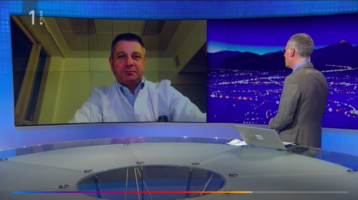 Sesti primer koronavirusa v Sloveniji Igor E. Bergant in porocanje o koronavirusu v oddaji Odmevi