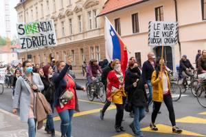 Protesti Ljubljana 15 maj 18