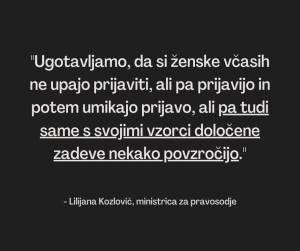 Lilijana Kozlovic ministrica o posilstvu