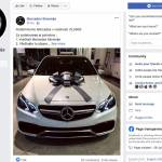 Mercedes Slovenija na facebooku ne podarja Mercedesa v vrednosti 75.000 evrov
