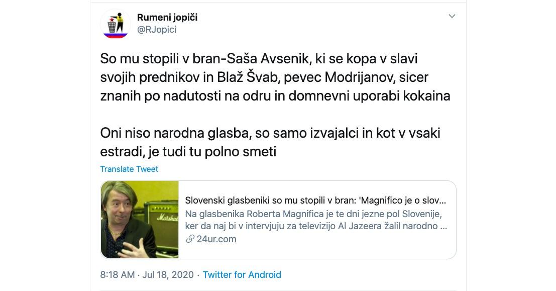 Rumeni jopici Magnifico Modrijani