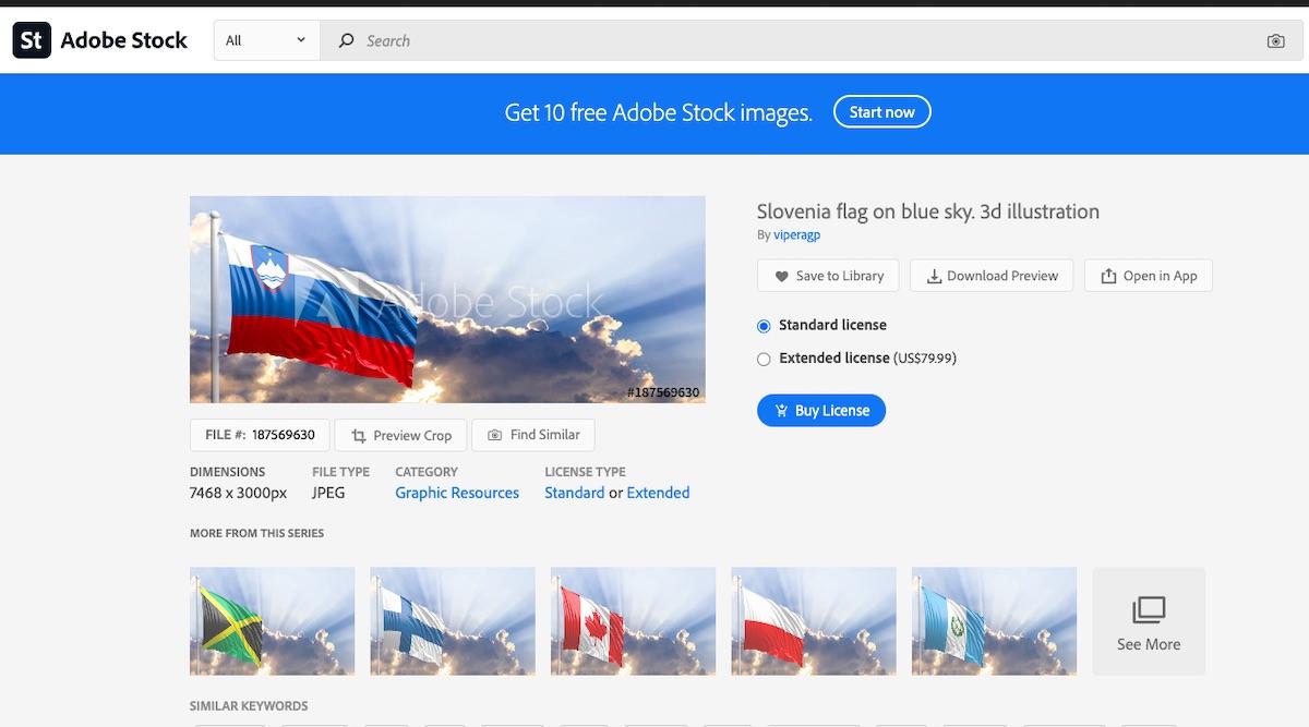 Slovenska zastava Shutterstock