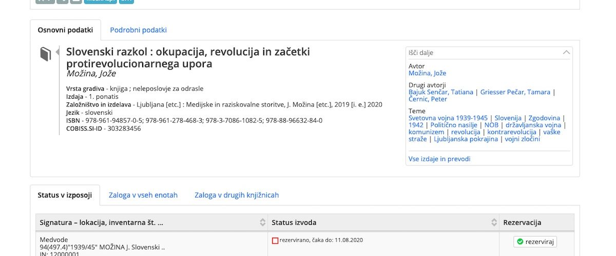 Joze Mozina Slovenski razkol
