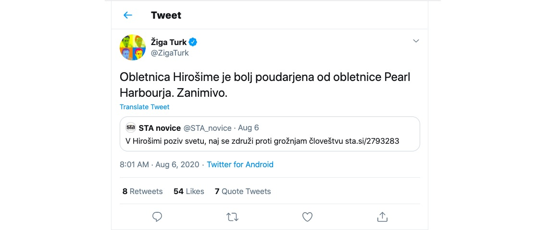 Ziga Turk Hiroshima Pearl Harbor