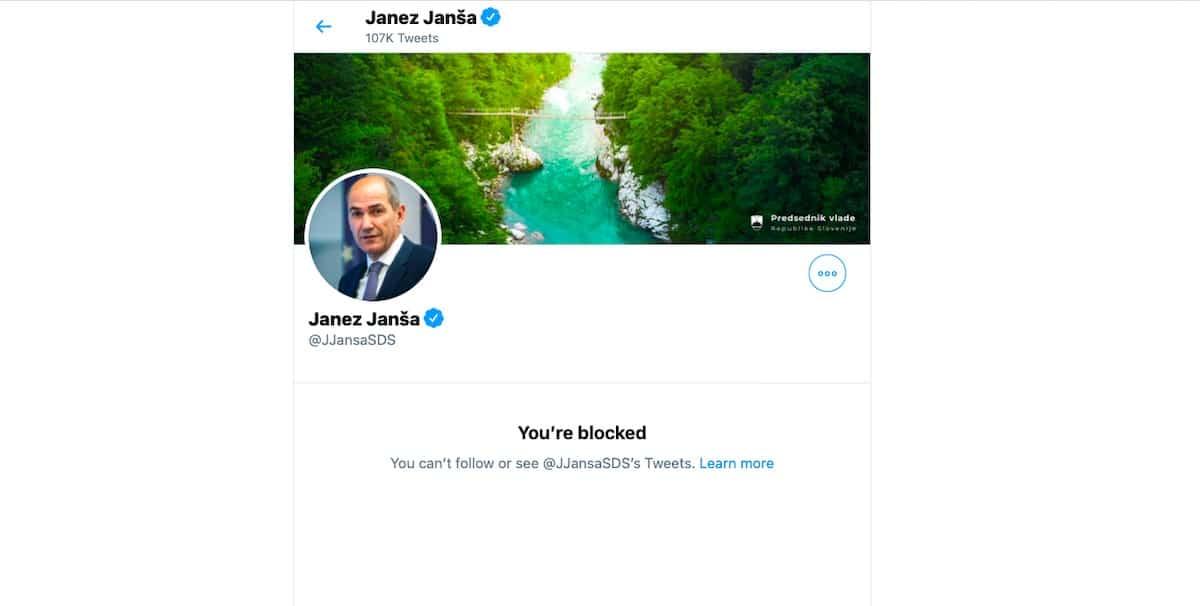 Janez Jansa Twitter