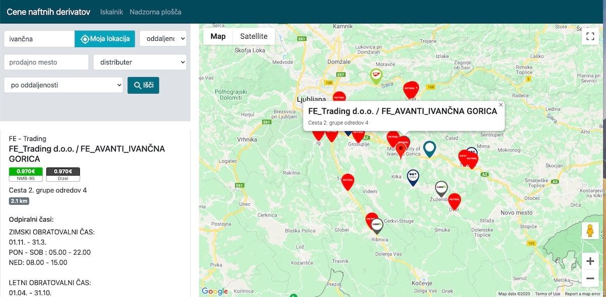 Najnizja cena goriva v Sloveniji