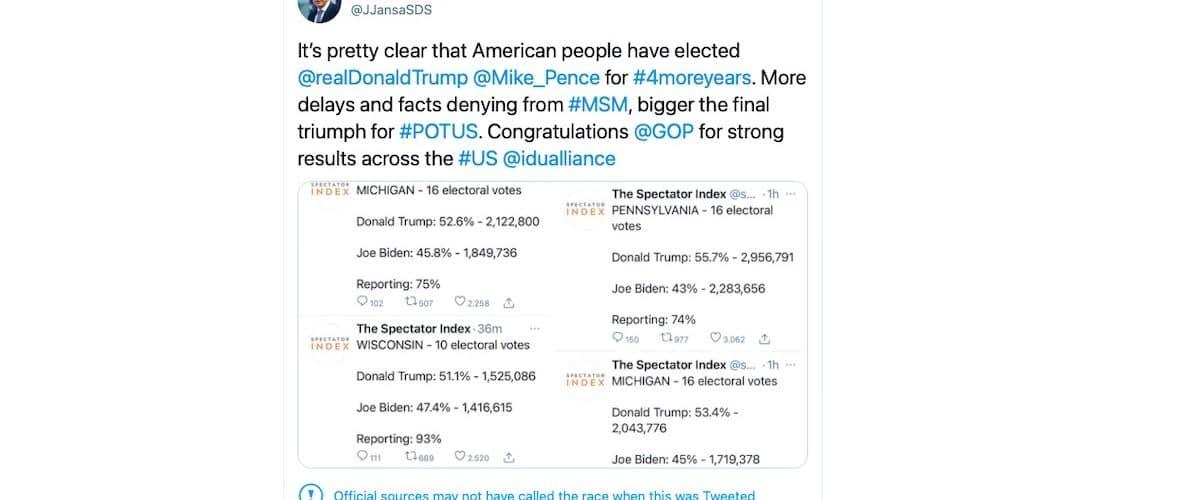Janez Jansa Donald Trump twitter