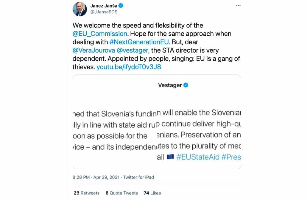 Janez Jansa nehaj nas sramotiti pred EU s svojo anglescino