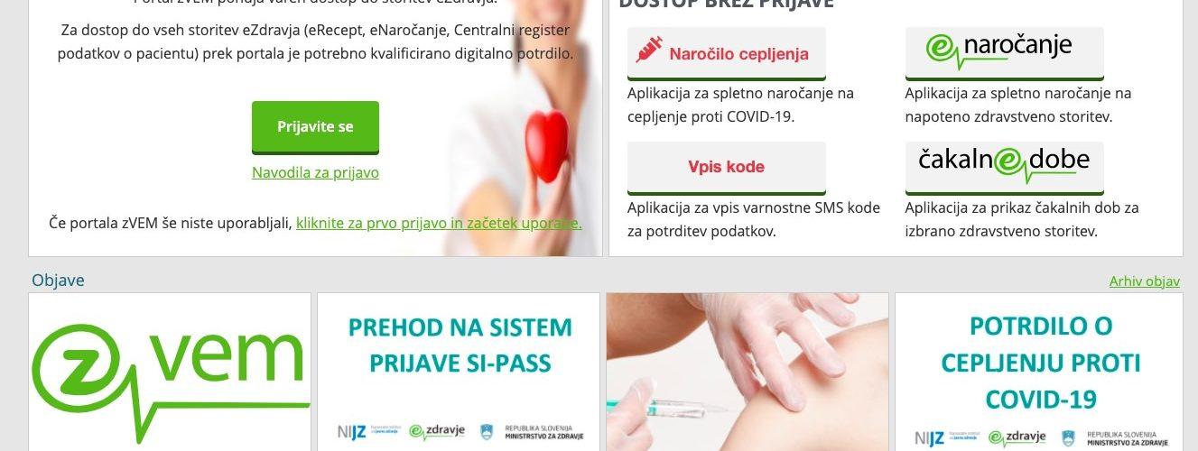 spletno narocanje na cepljenje proti COVID 19