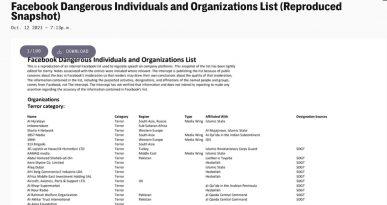 facebook nevarne organizacije